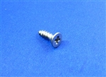 Chrome Plated Flat Head Trim Mounting Screw - 2.2 x 9.5mm