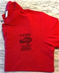 Pagoda 50th Anniversary Polo Shirt - Red Color - XL Size