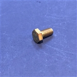 Hex Head Cap Screw M6x12  DIN 933 - Yellow Zinc Plated
