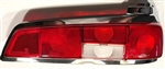 Red/Clear/Red Taillight Lens for 110, 111Ch. - Right Side