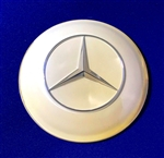 Ivory Color Horn Button / Emblem for Mercedes 300SL Roadster, 190SL -Mirror Silver