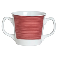 MUG DOUBLE HANDLED 5.875 IN X 3.25 IN(10 OZ) FREEDOM RED