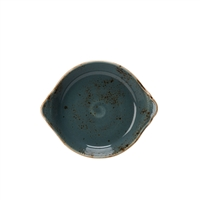 "CRAFT 7 1/2"" ROUND EARRED BAKING DISH IN BLUE"