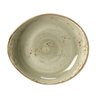 "CRAFT GREEN 11"" FREESTYLE SERVING BOWL - EACH"