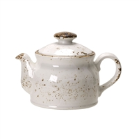 Club Teapot w/lid  Craft White