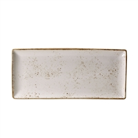 "Craft White 14 1/2"" x 6 1/2"" Rectangular Tray"