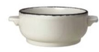 SOUP BOWL BASE (15 OZ) CHARCOAL DAPPLE