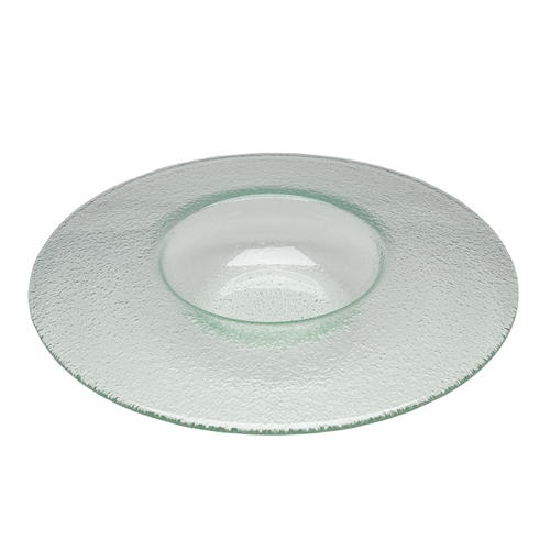 "GLASS FLOAT 11"" PLATE -8 OZ"
