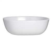 FRUIT BOWL 4.75 X 1.5 (10 OZ) WHITE RETRO 3RO-DD211-020