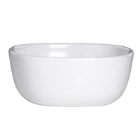 SAUCE DISH 3.5 IN  X 1.5 IN (5 OZ) WHITE RETRO 3RO-DD215-020