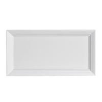 PLATE RECTANGLE 10.625 IN X 5.5 IN AURA WHITE