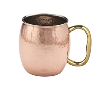 Solid Hammered Copper Moscow Mule Mug