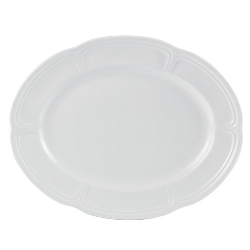 "STEELITE OVAL PLATTER 13 "" MONIQUE"