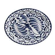 Puebla Hand Painted Oval Platter  BLUE ONLY