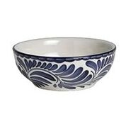 PUEBLA SOUP/CEREAL BOWL - SET OF 4  BLUE ONLY