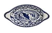 Puebla Hand Painted Rarebit Dish Blue Only