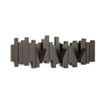 Umbra Sticks Multi Hook Wall Mount Rack - Coat Rack - Espresso or Black