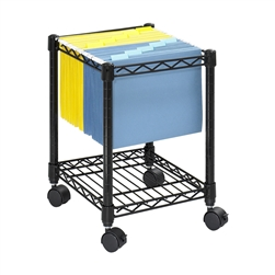 Compact Mobile Wire File Cart
