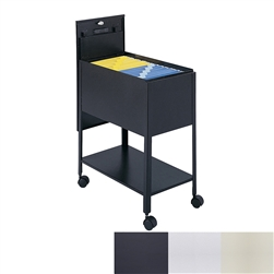 Extra Deep Mobile Tub File with Locking Top and lower shelf