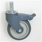 MetroMax Antimicrobial Stem Casters with Brakes