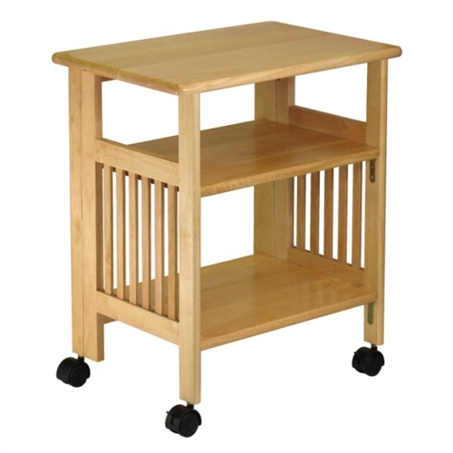 Mission Style Table Folding Printer Stand Winsome Wood
