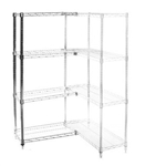 "Wire Shelving Add On Kit with 4 Shelves - 24""d x 36""h"
