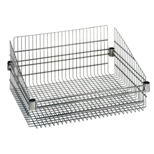 "24""d Post Basket for Wire Shelving"