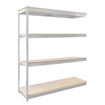 "24""d Double Rivet Shelving Add On Units with 4 Levels"