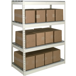 "30""d Double Rivet Shelving Starter Units with 4 Levels"