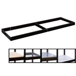 "24""d Extra Levels for Black Double Rivet Shelving Units"