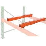 Metal fork entry bars for pallet racking