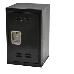 "Kids Black Mini Locker 15""d x 15""w x 24""h"