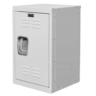 "Kids White Mini Locker 15""d x 15""w x 24""h"