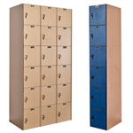 AquaMax Plastic Lockers - Six Tier
