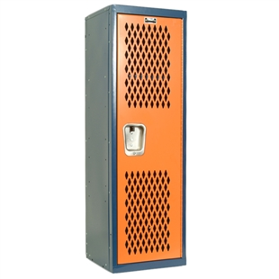 Dark Blue and Orange Home Team Locker