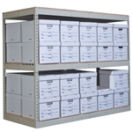 3 Level Record Storage Rivet Shelving Starter Units