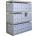4 Level Record Storage Rivet Shelving Starter Units