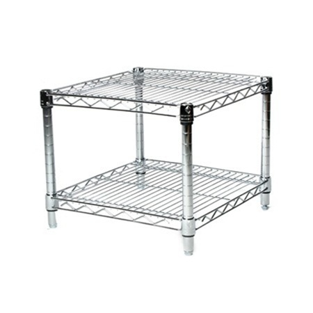 Industrial Wire Shelving Unit with 2 Shelves   24 d. 24  Depth Wire Shelving Unit with 2 Shelves   Shelving Inc