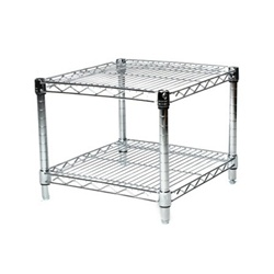 "Industrial Wire Shelving Unit with 2 Shelves - 24""d"