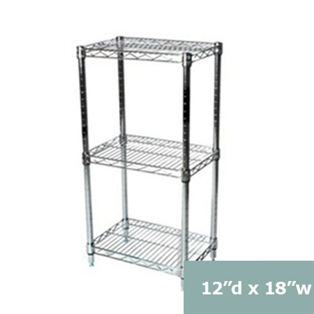 Three Tier Wire Shelving Racks 12 Inches Deep 12 Quot D