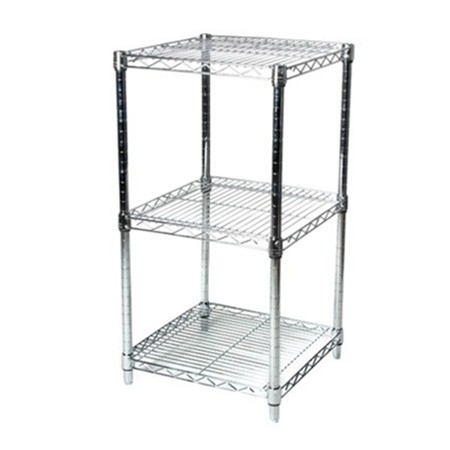 "24""d Wire Shelving Racks, Three Levels of Storage"