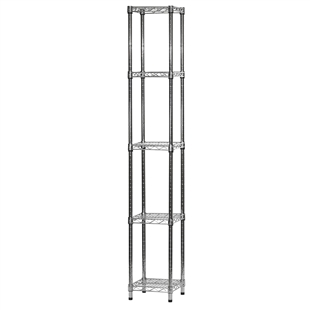 "Wire Shelving Unit w/ 5 Shelves - 12""d x 12""w"