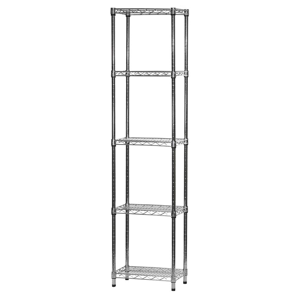 12 Quot D X 18 Quot W Chrome Wire Shelving Unit With 5 Shelves