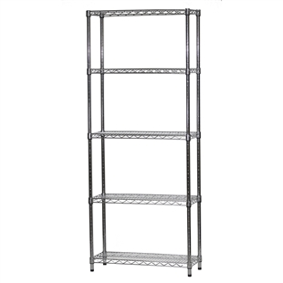 "Wire Shelving Unit w/ 5 Shelves - 12""d x 30""w"