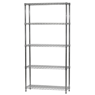 "Wire Shelving Unit w/ 5 Shelves - 12""d x 36""w"
