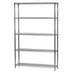 "Wire Shelving Unit w/ 5 Shelves - 12""d x 48""w"