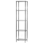 "Wire Shelving Unit w/ 5 Shelves - 14""d x 18""w"