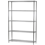 "Wire Shelving Unit with 5 Shelves - 14""d x 48""w"