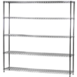 "Industrial Wire Shelving Unit with 5 Shelves - 14""d x 72""w"