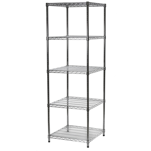 "Wire Shelving Unit with 5 Shelves - 24""d x 24""w"